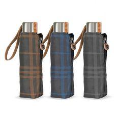 Cachemir Pocket káro - pánský skládací mini deštník Water Bottle, Umbrellas, Design, Water Flask, Water Bottles