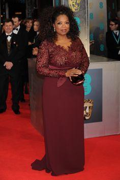 Oprah Winfrey wearing Stella McCartney to the BAFTAs