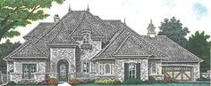 European House Plan with 3514 Square Feet and 4 Bedrooms from Dream Home Source | House Plan Code DHSW076888
