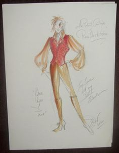 """Fancy getting your hands on rare original 11""""x15"""" costume sketches designed and signed by the wonderful Eduardo Castro. Stay tuned. More pics and details will be released tonight.     Once Upon A Fan, the only fan site that brings you closer to the cast and crew."""