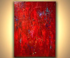 Original Contemporary modern Red Abstract Painting LARGE Thick Acrylic Texture Palette Knife by Osnat Abstract Canvas, Canvas Art Prints, Canvas Wall Art, Canvas Canvas, Cuadros Pop Art, Wall Art Pictures, Contemporary Paintings, Oeuvre D'art, Palette Knife