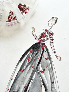 { Dallas Shaw draws Elie Saab }
