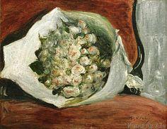 Pierre Auguste Renoir - Bouquet dans une loge