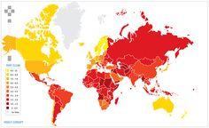 Corruption perception index (2010)