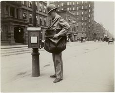 Mailman.  33 Everyday Street Scenes From Late 1800s New York City
