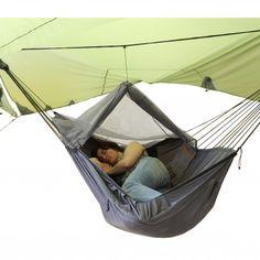 Exped - Ergo Hammock Combi; 3pb. 6oz hammock, bug net, tarp together, slide in your favorite sleep pad, and your good. ~$380