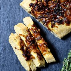 Caramelized Onion Focaccia, you would never know its grain free! So delicious! (grain