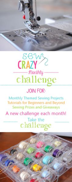 Big Announcement: Sew Crazy Monthly Challenge - Crazy Little Projects