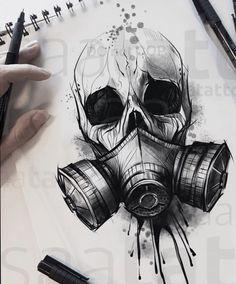 NO COPIE Chernobyl chernobyl tattoodrawing tattoosketch che NO COPIE Chernobyl chernobyl tattoodrawing tattoosketch che chernobyl copy not tattoodrawing tattoosketch tschernobyl Tattoo Design Drawings, Skull Tattoo Design, Skull Tattoos, Body Art Tattoos, Sleeve Tattoos, Tattoo Designs, Evil Skull Tattoo, Tattoo Ideas, Monkey Tattoos