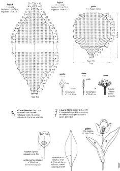 Solo esquemas y diseños de crochet: TULIPANES