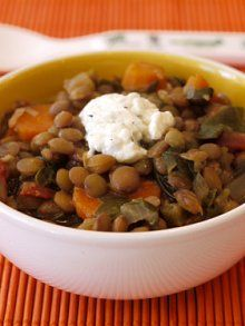 can futz with this recipe   Lentil Veggie Stew in the Slow Cooker | Weelicious
