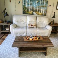 "Easton 50"" Reclaimed Wood Coffee Table   Pottery Barn Coffee Table Pottery Barn, Coffee Table With Shelf, Reclaimed Wood Coffee Table, A Shelf, Shelves, Antique Doors, Wood Planks, Repurposed, Love Seat"