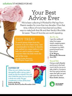 """Parents Magazine, """"It Worked For Me,"""" October 2011, Page 1"""