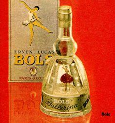 1962 BOLS Ballerina liqueurs ad France (Elle) Little Ballerina, Liqueurs, Tiny Dancer, Liquor Bottles, Vintage Advertisements, Whisky, Decorative Bells, Coca Cola, Gin
