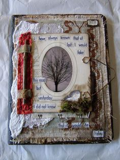 Seeing Within Nellie Wortman Junk Journal, Journal Paper, Art Journal Pages, Altered Books Pages, Altered Book Art, Handmade Journals, Handmade Books, Handmade Notebook, Fabric Journals