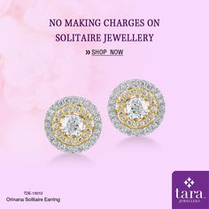 A sparkling ethnic pair of stud with solitaire at the center for brighter for special occasion. http://bit.ly/2t1vmcx #Solitairejewellery #TaraJewellers #Diamondjewellery #Certfieddiamonds #BIShallmarkedjewellery