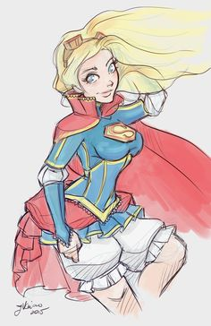 Super Girl Sketch by NoFlutter