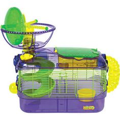 Super Pet Crittertrail Extreme Small Animal Modular Habitat with Wheel and Water Bottle
