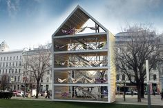 Flederhaus - a 5-story open-air house full of hammocks in Vienna. Hope this is still there whenever I go back!