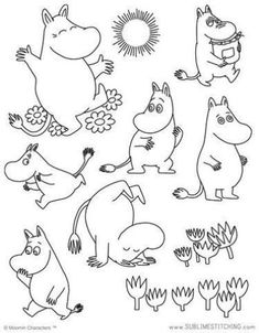 MOOMIN / Moomintroll - Embroidery Patterns Mehr You are in the right place about embroidery monogram Here we offer you the most beautiful pictures about the embroidery butterfly you are looking for. Embroidery Designs, Hand Embroidery Patterns Free, Iron On Embroidery, Embroidery Sampler, Embroidery Transfers, Geometric Embroidery, Modern Embroidery, Portrait Embroidery, Embroidery Tattoo