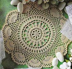 Home Decor Crochet Patterns Part 93 - Beautiful Crochet Patterns and Knitting Patterns Filet Crochet, Mandala Au Crochet, Beau Crochet, Crochet Stitches Patterns, Crochet Chart, Thread Crochet, Crochet Lace, Crochet Dollies, Crochet Home Decor