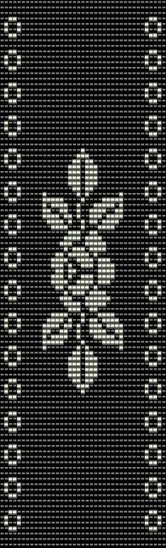 This Miyuki Delica Bead Loom Pattern is designed for Size 11 Beads. Width: 2.08 / 39 columns Length: 6.88 / 100 rows Colours: 2  You can also choose other colours according to your taste. Naturally you can shorten this bracelet for your desired length.  The pdf file includes: 1. picture of the pattern 2. a large, detailed graph of the pattern, 3. a bead legend with the colour numbers and count of the delica beads for the suggested length 4. a word chart of the pattern   !!! ♥ NEW CO...