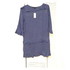 Dress Banana republic Pretty pale blue color with layered ruffles on the bottom Banana Republic Dresses Long Sleeve