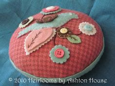 bird pincushion published in a quilt book by Heirlooms by Ashton House
