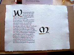 Bokstaven bokbinding og kalligrafi :: Kalligrafi