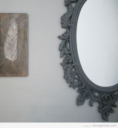 Feather String Art, ideas to decorate a wall