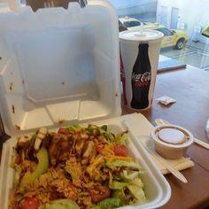 So good!  BBQ chop salad from Champps Americana.