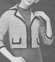 PDF Chanel Style Jacket Crochet Pattern, Ladies Dress Topper Pattern, Women's…