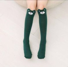 da139f85e Design Girl Boy Cartoon Cotton Knee High Middle Tube Socks For Children  High Quality