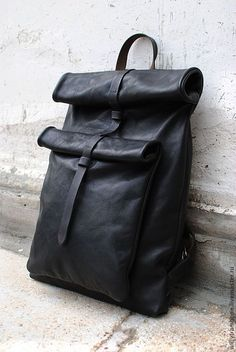 Купить Рюкзак прямоугольный - Кожаная сумка, кожаный рюкзак, большой размер, женский рюкзак, мужской рюкзак