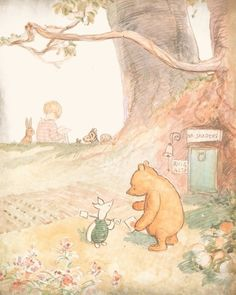 Best friends: Winnie the Pooh and Piglet. Shepard, illustrated of all the Pooh Books. Pooh Bear, Tigger, Eh Shepard, 100 Acre Wood, Winnie The Pooh Quotes, Eeyore Quotes, Winnie The Pooh Classic, Arte Disney, Children's Book Illustration