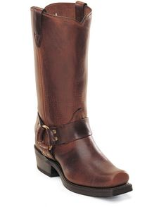 "Men's 11"" Western Classic Harness Boots - Frontier Brown"