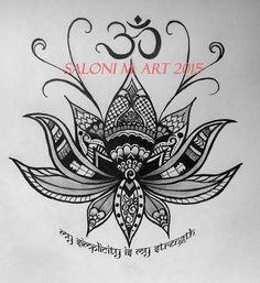Lotus Om Design Tattoo Zentangle Henna