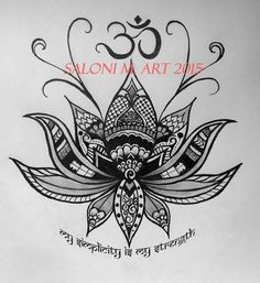 Lotus Om Design Tattoo Zentangle Henna