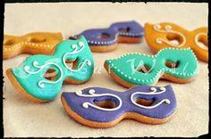 Galletas decoradas máscaras Carnaval