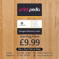 #BusinessCards   #DesignerUK  from £9.99 We match any quote.  #London   #Bucks   #Brighton   #Business   #Aylesbury   #Design   #Printing   #Shoreditch   #Buckinghamshire   #designer    http://printpedia.co.uk/