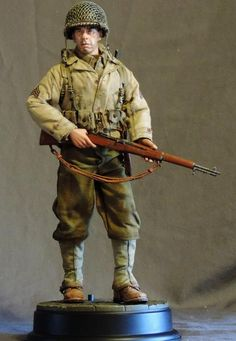 """Sgt Possum"" - Sixth Army Group American Uniform, Military Action Figures, Anime Military, Military Modelling, Military Diorama, Action Poses, German Army, Toy Soldiers, Wwii"