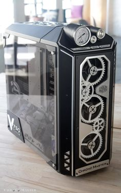 Mod of the Month January 2017 in Association with Corsair Chrono Master by neSSa Mod des Monats Januar 2017 in Zusammenarbeit mit Corsair . Gaming Computer Setup, Computer Build, Gaming Pcs, Gaming Room Setup, Pc Setup, Computer Technology, Computer Gadgets, Pc Cases, Custom Computer Case