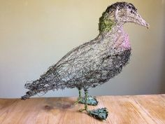 Wire Bird Sculpture Eider Duck