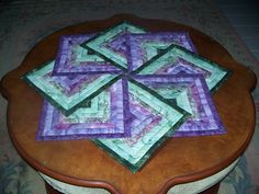 Gorgeous Table Topper made of some of my favorite colors