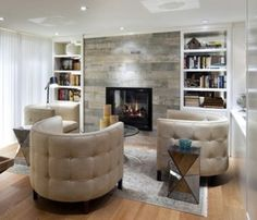 wood looking porcelain tile used on fireplace - Google Search