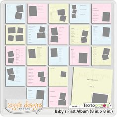 Baby's first year layout ideas | digital goodies | Pinterest ...