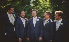 Groomsmen looking fresh in their oatmeal linen and cream rosebud ties by @thegrunionrun  Photography by @photographytao