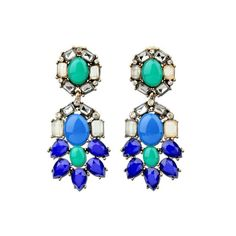 #AdoreWe Few Moda, Minimalistic Fashion Brands Online - Designer Few Moda Shades of Blue Earrings MG247 - AdoreWe.com