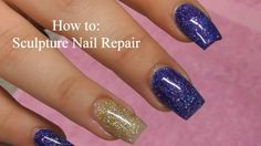 Sculptured Nail Repair and Fill by Black Swan Beauty
