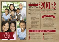 Send out a family newsletter of the year in review.